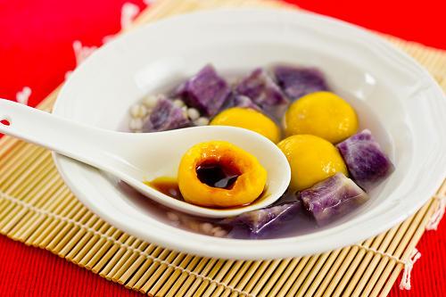 南瓜湯圓配紫薯 Pumpkin Glutinous Dumplings03_NL