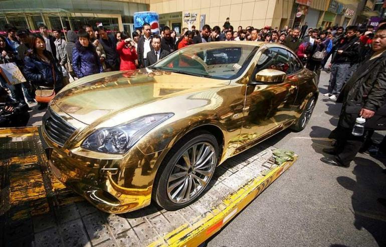 tuhao gold-car